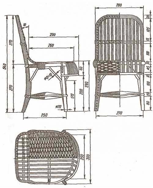 Мебель из искусственного ротанга своими руками. Техника создания мебели