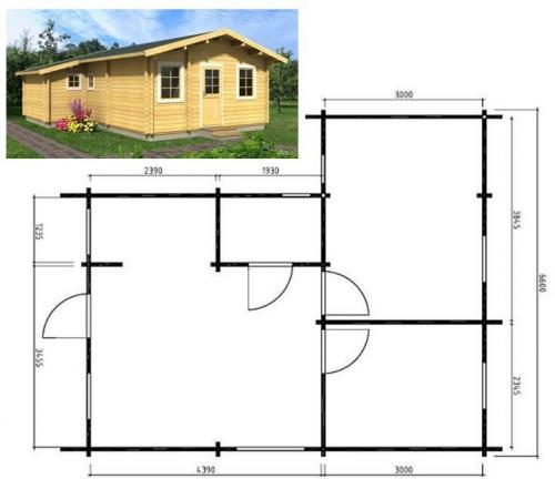 Как сделать домик маленький.