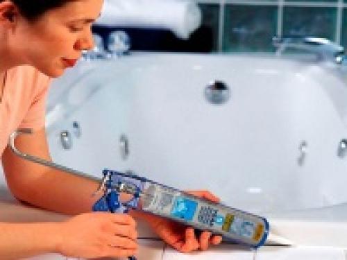 Герметики для ванной – выбираем лучший, правильная техника нанесения