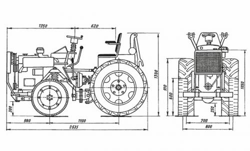 Самодельный-трактор с двигателем от мотоблока и кпп от ваза. Как изготовить мини-трактор из Жигулей своими руками