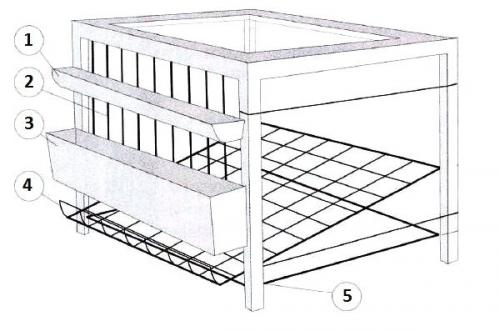 Клетка для кур-несушек своими руками. Сборка по чертежам и размерам