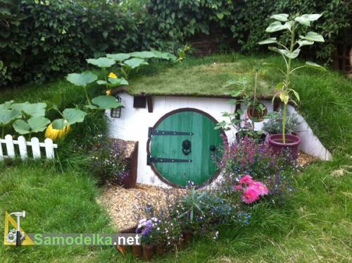 Домик хоббита в саду своими руками. Как построить домик хоббита своими руками
