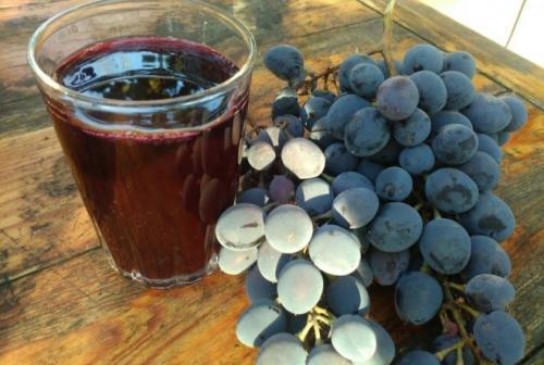 Сок из столового винограда. Свойства виноградного сока