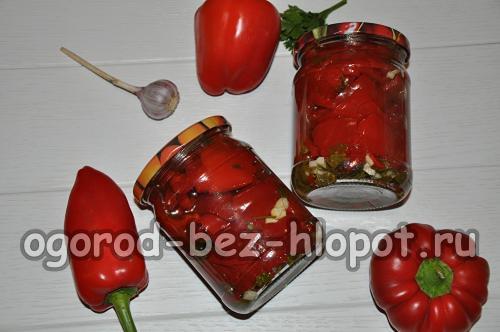 Перцы маринованные с чесноком и петрушкой. Маринованный сладкий болгарский перец с петрушкой и чесноком на зиму