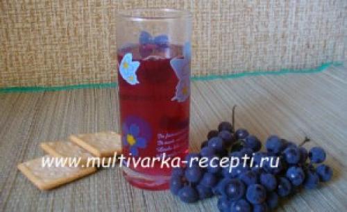 Виноградный сок в мультиварке. Компот из винограда в мультиварке