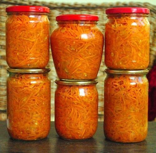 Морковь на зиму консервировать. Салат с морковью на зиму