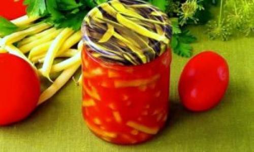 Спаржевая фасоль рецепты консервированная на зиму в томате. Консервированная спаржевая фасоль в томатном соусе на зиму
