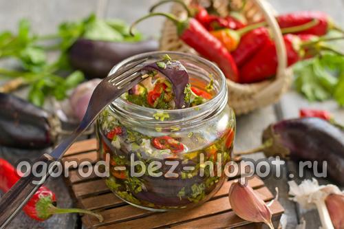 Баклажаны с кинзой на зиму рецепты приготовления. Пикантные баклажаны с кинзой, чесноком и чили