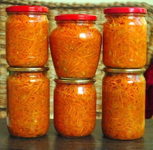 Морковь кубиками на зиму. Салат с морковью на зиму