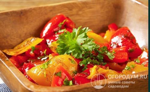 Рецепт перец жареный сладкий в чесночном маринаде консервация. Жареный перец на зиму без стерилизации
